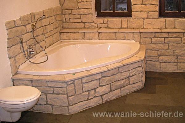 Natursteinwand badezimmer design